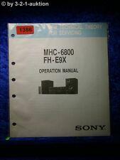 Sony Operation Manual MHC 6800 FH E9X (#1386)