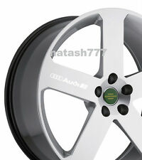 4 - AUDI Decal Sticker Racing Sport  S- Line Wheels Rims emblem logo WHITE