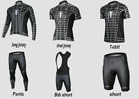 G-LIKE Black Venom SpiderMan Lycra Cycling Jersey Bicycle Suit Full Zipp Shirt