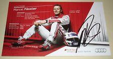 Le Mans 2014 Winner-Audi 's Last Win-Wec-R18 #2 tarjeta firmada Marcel Fassler