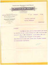 """TROYES (10) HUILES & GRAISSES INDUSTRIELLES """"Maison COCHOIS"""" en 1931"""