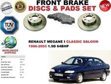 FOR RENAULT MEGANE I SALOON CLASSIC 96-03 FRONT SOLID BRAKE DISCS SET + PADS KIT