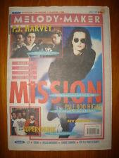 MELODY MAKER 1992 APR 11 MISSION NYMPHS ANNIE LENNOX L7
