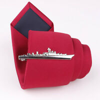 Navy War Ship Fashion Men's Tie Bar Clip Clasp Accessory Suit Uniform Military