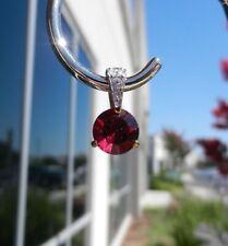 Signed Swarovski Crystal Pendant Red Gold Plated