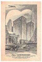 Hotel Commodore NYC Vintage Postcard