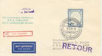 2415 BRD 1955 sehr selt. Erstflug Deutsche Lufthansa HAMBURG – SHANNON, Irland