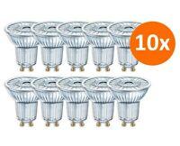 10er Pack Osram LED Superstar PAR16 50 36° GU10 Spot 90Ra 2700K = 50W dimmbar