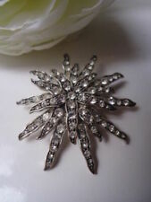 Stern Sonne Starburst Brosche Swarovski Sunburst Blume