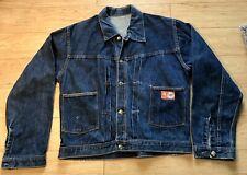Vintage 1960's Montgomery Ward 101 Denim Jean Jacket Back Buckle Large
