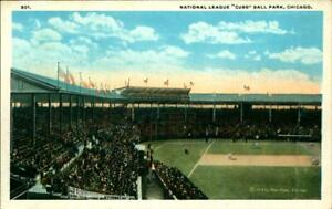Rare View 1914 Baseball Stadium Postcard Chicago Cubs Max Rigot Postcard