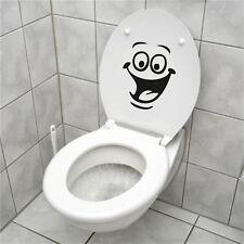 Smile Face WC Toilet Decal Wall Mural Art Decor Bathroom Sticker Vinyl