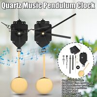 DIY Wall Quartz Pendulum Trigger Clock Movement Chime Music Box Kit 2 Set Hands