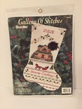 Bucilla Gallery of Stitches 33333 Season's Greetings 16 IN Stocking New Sealed