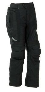 SPADA DUO-TECH TEXTILE WATERPROOF MOTORCYCLE TROUSERS SHORT/STD LEG BLACK