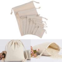 Bag Natural Linen Pouch Drawstring Burlap Jute Sack Drawstring Gift Bags√ YAN
