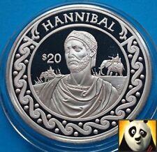 Conquérant Hannibal Silver 1997 au Libéria 20 millions de Dollars au monde Proof Coin