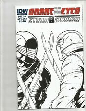 Snake Eyes and Storm Shadow 14 (2012) 1:10 SKETCH VARIANT!! HIGH GRADE! SCARCE!