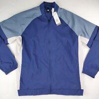 NWT Adidas SP ID Bomber Jacket Men's Size Large L Lightweight Navy Spandex Nylon