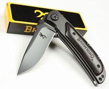 BLACK Jagdmesser Klappmesser Reisemesser BROWNING - SURVIVAL KNIFE Liner-Lock