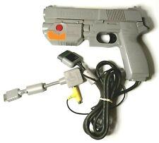 Namco GunCon G-Con 45 PS1 Gun Controller Light Gun + AV Multi Out Adapter