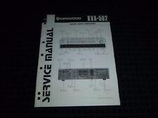 Vtg Original Kenwood Service Manual Model KVA 502 Audio Video Amplifier