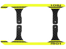 Rakon CNC 3K Pure Carbon Fiber Landing Skid Set (Black-Yellow) - Blade 120S