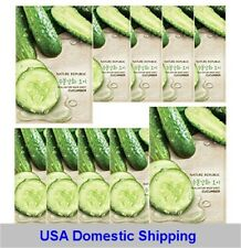 (USA Shipping) Nature Republic Cucumber X10 pcs mask sheet pack korea cosmetics