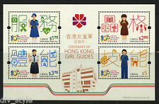 Girl Guides 100 years mnh Souvenir Sheet 2016 Hong Kong
