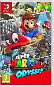 Lot of 4 Super Mario Odyssey Nintendo Switch - Brand New Free Shipping!