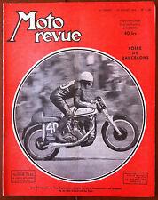 Moto Revue du 25/07/1953; Foire de Barcelone/ Ken Kavanagh au circuit de SPA