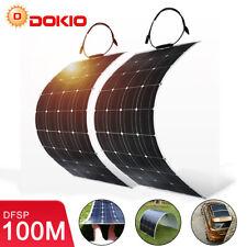 Dokio 2pcs 100W Monokristallin flexible Solarpanel Solarmodule/Wohnwagen/Boot