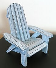 """Wooden Adirondack Style Chair Table Decor Shabby Chic Blue Beach Party 5"""" x 4"""""""