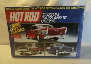 LOOK! 1985 REVELL CUSTOM `54,`55 & `57 CHEVYS 1/25 3 MODEL CAR GIFT SET SEALED!