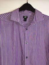 H&M Mens Large Striped Dress Shirt