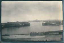Europe, Entrée d'un port, ca.1903, vintage silver print Vintage silver prin
