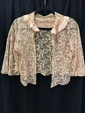 1920s 1930s vintage embroidered lace bolero jacket great for bride photo shoot