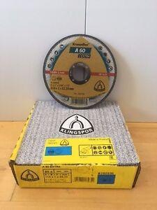 "KLINGSPOR A60 EXTRA CUTTING DISC 115mm x 1 x 22.23mm / 4 1/2"""