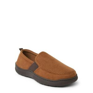Dearfoams Cozy Comfort Men's Perforated Aline Slippers