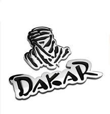 Chrome/Gold Dakar Car Sticker Rally Auto Rear Decal Emblem Adhesive Metal Badge