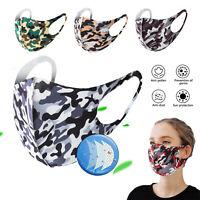 Mundschutz Behelf-Mund-Nasen-Atem-Schutz Maske Waschbar Camouflage