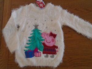 BNWT baby girl Peppa Pig Christmas jumper. Soft & fluffy. 12-18mths. RRP £18 1/5
