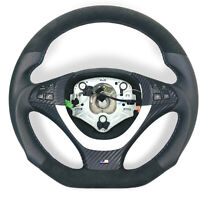 Aplati Alcantara Volant en Cuir BMW X5,E70,E71 Volant Avec Couverture