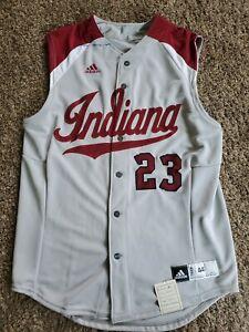 2012 INDIANA Hoosiers #32 Adidas Baseball NCAA Team Issued Jersey Sz 44 Game