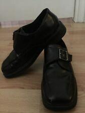 Boys Dress Shoes Black 2.5 M Usa Scott David Hook And Loop