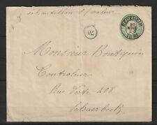 Belgien alte Ganzsache Brief 10 Cent von Reckheim nach Schaerbeek, 1893
