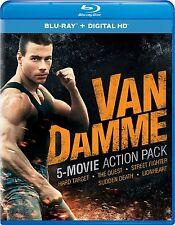 JEAN CLAUDE VAN DAMME : 5 MOVIE ACTION PACK (5 discs) -  Blu Ray - Region free
