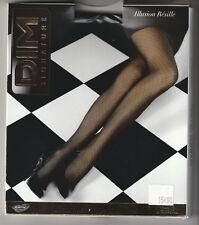 Collant résille noir DIM SIGNATURE Taille 4   20 Deniers motif losanges 9f63beee7f0