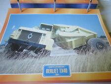 Super Trucks Baustellen LKW Frankreich Berliet TX40, 1964