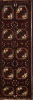 Geometric Vintage Lori Runner Rug Wool Hand-Knotted Oriental All-Over 4x12